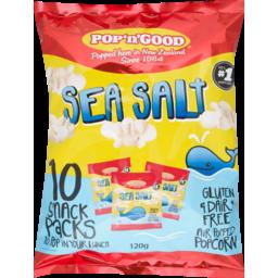 Photo of Pop 'n' Good Popcorn Sea Salt Lunch Pack 120g