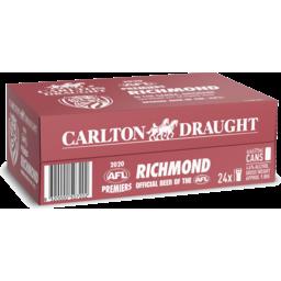 Photo of Carlton Draught Richmond Cans 2020