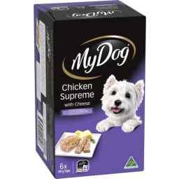 Photo of My Dog Adult Wet Dog Food Chicken Supreme Select Toppings 6x100g Trays