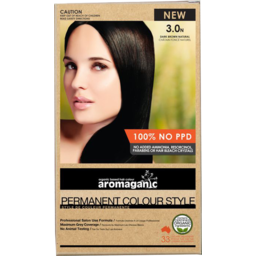 Photo of Aromaganic Hair Colour - Dark Brown Natural 3.0n