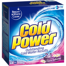 Photo of Cold Power 2in1 With A Touch Of Fabric Softener, Powder Laundry Detergent, 1.8kg