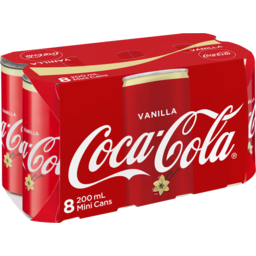 Photo of Coca Cola Vanilla Can 200ml 8pk