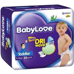 Photo of BABYLOVE NAPPY TODDLER 10-15 KG 20S