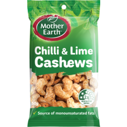 Photo of Mother Earth Cashews Chilli & Lime 50g