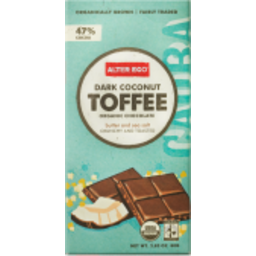 Photo of Alter Eco Organic Chocolate Dark Toffee Coconut 80g