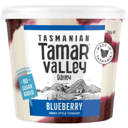 Photo of Tamar Valley No Added Sugar Blueberry Greek Style Yoghurt 700g