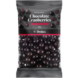 Photo of Drakes Dark Chocolate Cranberries 400g