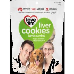 Photo of Love'em Liver Cookies With Lamb Liver & Mint Dog Treats 450g