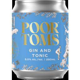 Photo of Poor Toms Gin & Tonic 4pk