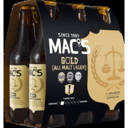 Photo of Macs Gold Lager 330ml Bottles 6 Pack