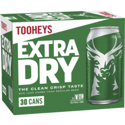 Photo of Tooheys Extra Dry Can 375ml 30 Pack