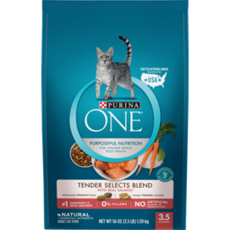 Photo of Purina One Dry Cat Food Smartblend Salmon & Tuna Flavour 1.59kg