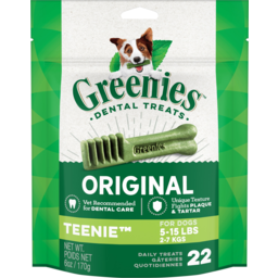 Photo of Greenies Dental Treats Original Teenie Dog Treats 22 Pack 170g