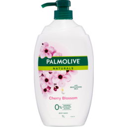 Photo of Palmolive Naturals Milk & Cherry Blossom Body Wash With Moisturising Milk 0% Parabens Recyclable 1l