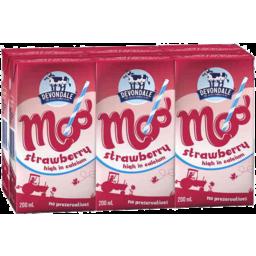 Photo of Devondale Moo Strawberry Milk 6x200ml