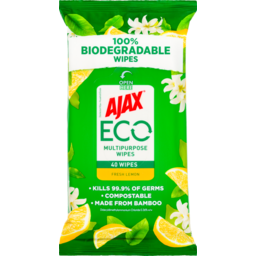 Photo of Ajax Eco Multipurpose Wipes Fresh Lemon 40pk