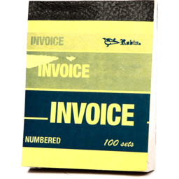 Photo of Duplicate Book: 1/2 Note Size - Invoice
