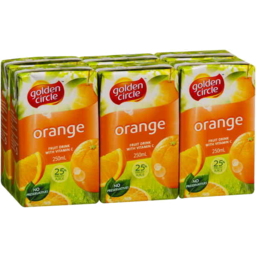 Photo of Golden Circle Orange Fruit Drink Multipack 6 X 250ml
