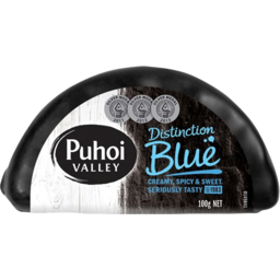 Photo of Puhoi Cheese Distinction Blue Half Wheel 100g
