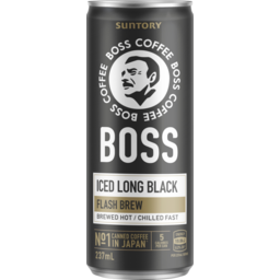 Photo of Boss Coffee Rtd Iced Long Black 237ml Can