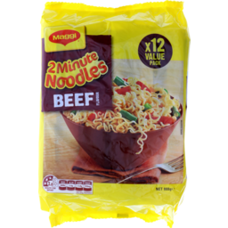 Photo of Maggi 2-Minute Noodles Beef 12pk 74g