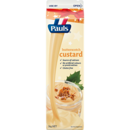Photo of Pauls Butterscotch Custard 1kg