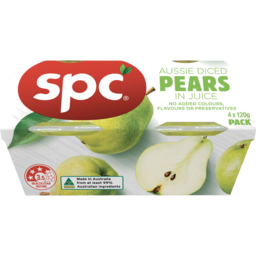 Photo of Spc Diced Pears In Juice 4x120g
