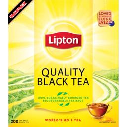 Photo of Lipton Quality Black Biodegradable Tea Bags 200 Pack 400g