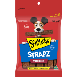 Photo of Schmackos Strapz With Beef Treats For Dogs 200g