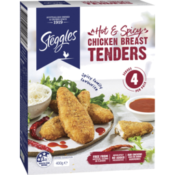 Photo of Steggles Hot & Spicy Chicken Breast Tenders 400g