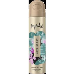 Photo of Impulse Body Spray Aerosol Deodorant Love Story 75ml