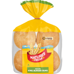 Photo of Natures Fresh Buns King Sesame 8 Pack