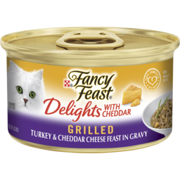 Photo of Fancy Feast Adult Delights With Cheddar Turkey & Cheddar Cheese Feast In Gravy Grilled Wet Cat Food 85g