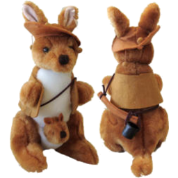 Photo of Plush Kangaroo & Jacket/Hat