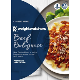 Photo of Weightwatchers Frozen Meals Beef Bolognese 320g 320g