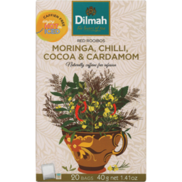 Photo of Dilmah Tea Moringa Chilli Cocoa Cardamom 20s 40g