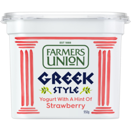 Photo of Farmers Union Greek Style Yogurt With A Hint Of Strawberry 950g