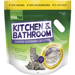 Photo of Vitapet Cat Litter Kitchen & Bathroom 6l
