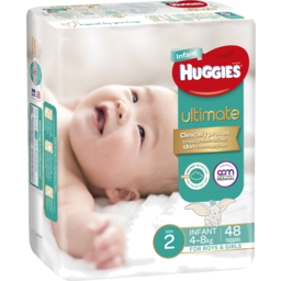 Photo of Huggies Ultimate Infant Nappies, Unisex, Size 2 Infant , 48 Nappies