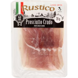 Photo of Rustico Black Label Prosciutto Crudo 70g