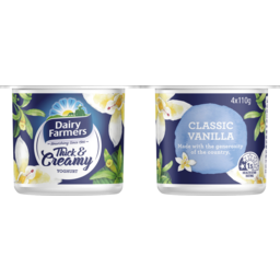 Photo of Dairy Farmers Thick & Creamy Yoghurt Vanilla Multipack ( 4* 110 Gms)