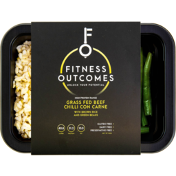 Photo of Fitness Outcomes Chicken, Corn, Green Beans & Brown Rice 350gm