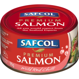 Photo of Safcol Atlantic Salmon Mild Red Chilli & Extra Virgin Olive Oil 95g