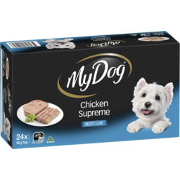 Photo of My Dog Dry Dog Food Chicken Supreme Meaty Loaf 24x100g Trays