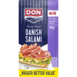 Photo of Don® Salami Danish Mild Thinly Sliced 180g