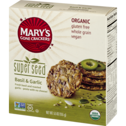 Photo of Mary's Gone Crackers Super Seed Crackers Basil & Garlic