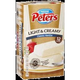 Photo of Nestle Peters Light & Creamy Slices Classic Vanilla 12pk 1.2