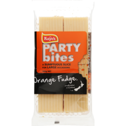 Photo of Kaye's Party Bites Orange Fudge Slice 300g