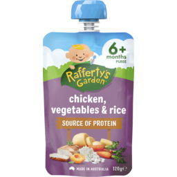 Photo of Raffertys Garden Chicken, Vegetables & Rice 120g