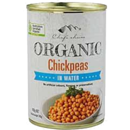 Photo of Chefs Choice Organics Chickpeas 400g